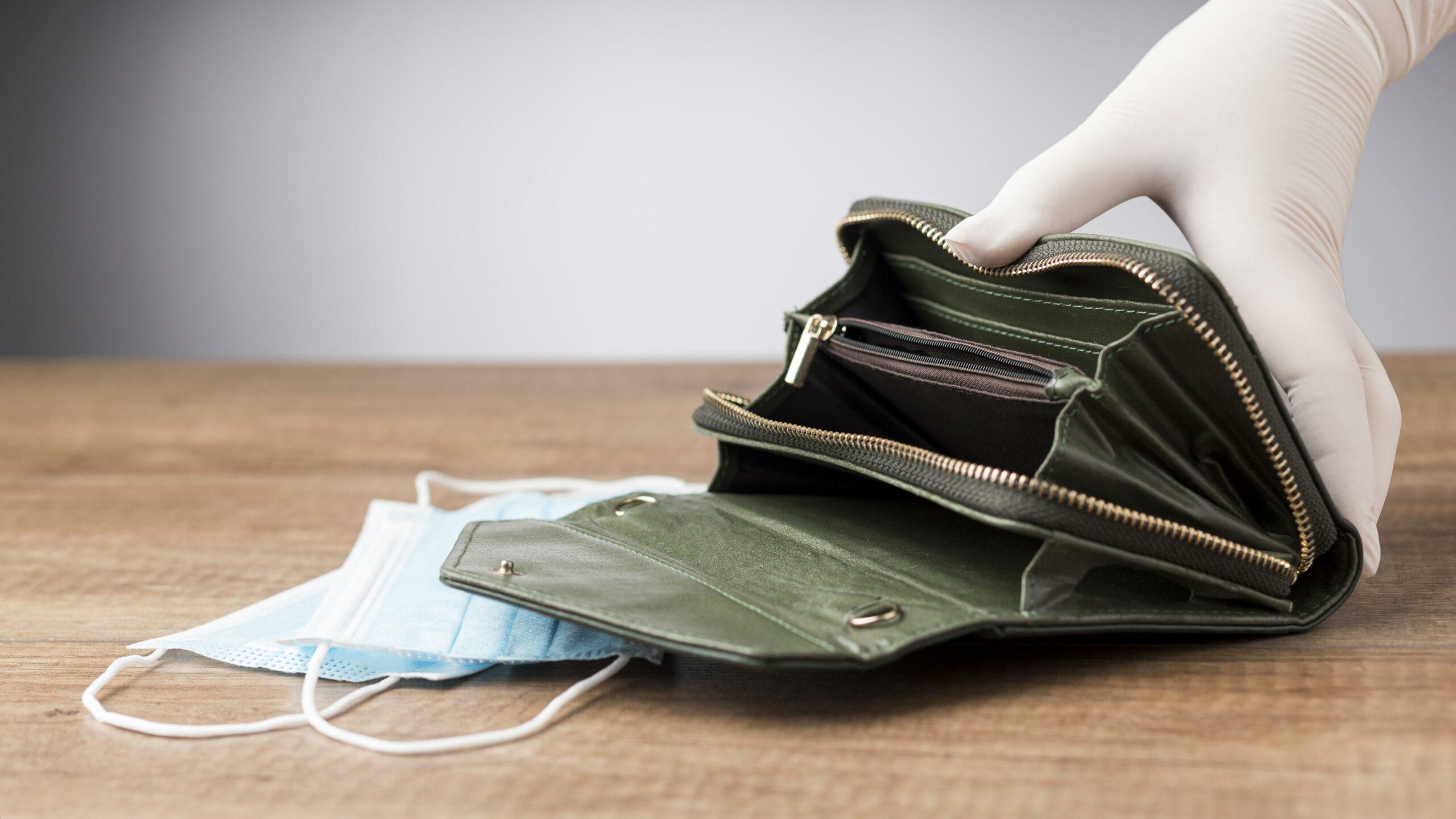 minha carteira está vazia, preciso de dinheiro rápido